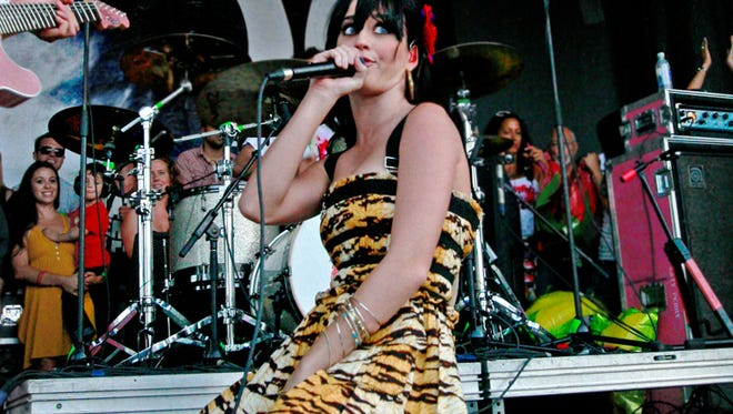 Katy Perry performing on Warped Tour in Carson, Calif., in 2008.