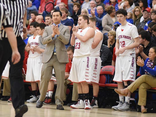 South Knox boys' basketball head coach Matt Rohrer has won back-to-back sectional championships.