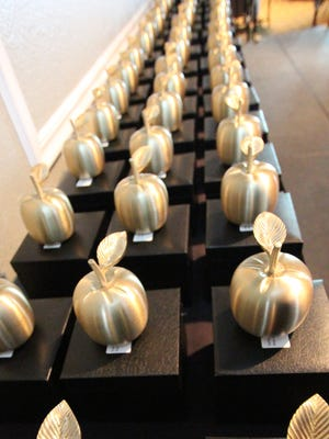 The teachers of the year have been honored by their individual schools and will also be honored by the district at the 33rd annual Golden Apple Awards on Jan. 26.