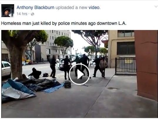 LAPD shoot man after struggle
