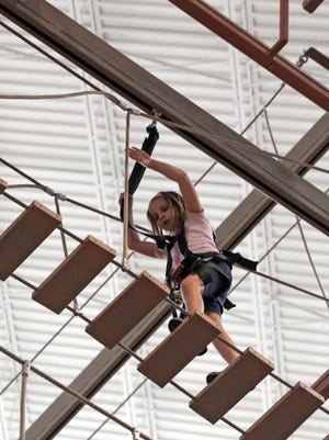 The Palisades Climb Adventure Ropes Course is a great option over the February break for kids and adults. It's at the Palisades Center mall.