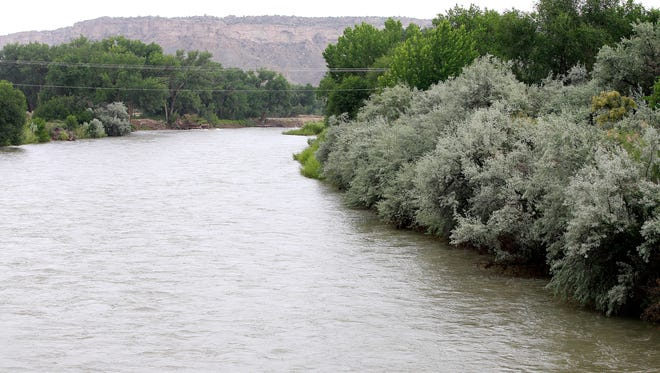 The level of the San Juan River will decline over the next several days as the U.S. Bureau of Reclamation releases less water from the Navajo Dam.