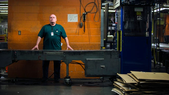 """Paul Futrell, 64, started working in the mail room at The Commercial Appeal in March 1967. His last day of work is today, Jan. 5, 2017. """"I told myself when I was coming in that I was going to take a moment and make sure that I had good things to think about and so I have,"""" Futrell said. """"I'm not going to do anything for about three months just so I can experience not doing anything because I've had a job for 50 years. I've never been unemployed so I can't wait to see what that's like."""""""