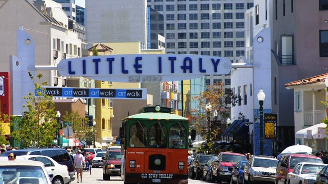 San Diego's Little Italy has exploded in gastronomic adventures discovered amid the tiny area's relaxing piazzas, sidewalk cafes, bocce ball courts and icy gelato stands.