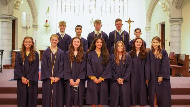 The Visitation Catholic School 8th grade Class of 2020 at a June graduation ceremony.