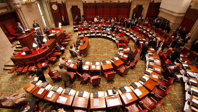 A view of the Senate Chamber at the New York State Capitol in Albany.