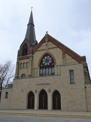 The front of St. Patrick Parish at 211 N. Maple Ave. stands proudly in downtown Green Bay. The Catholic church is celebrating its 150th anniversary.