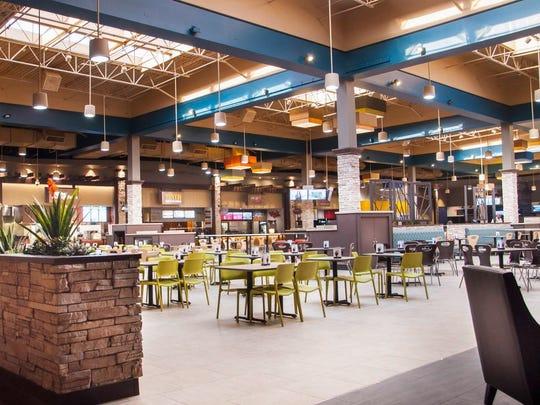 The renovated food court at Arizona Mills mall.