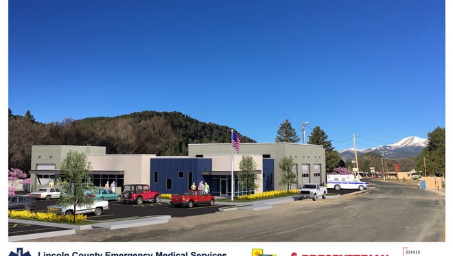 A rendering of the new Emergency Medical Services gives the view looking northwest on El Paso Road.