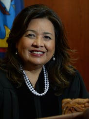 Chief Judge Frances Tydingco-Gatewood is shown in her