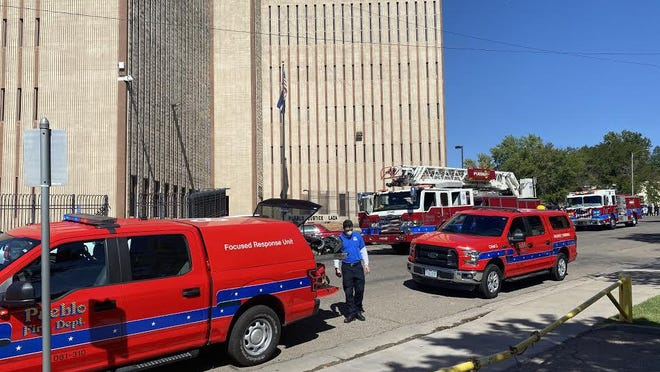 Pueblo Fire Department crews doused a small fire on the third floor of the Pueblo County jail Thursday.