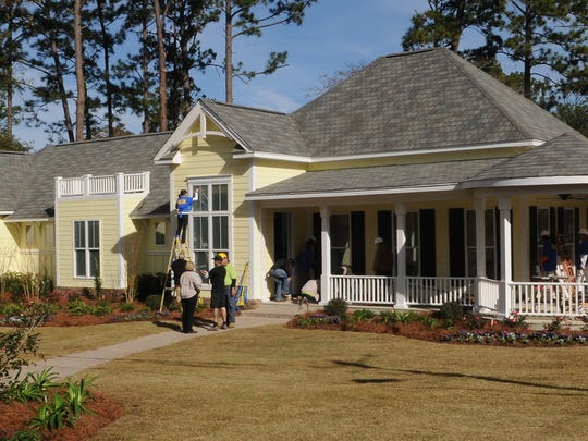 """A new home was built for the Heathcock family in December 2009 after theirs was severely damaged by Hurricane Katrina in 2005. The home was built by local volunteers and the """"Extreme Makeover: Home Edition"""" cast."""