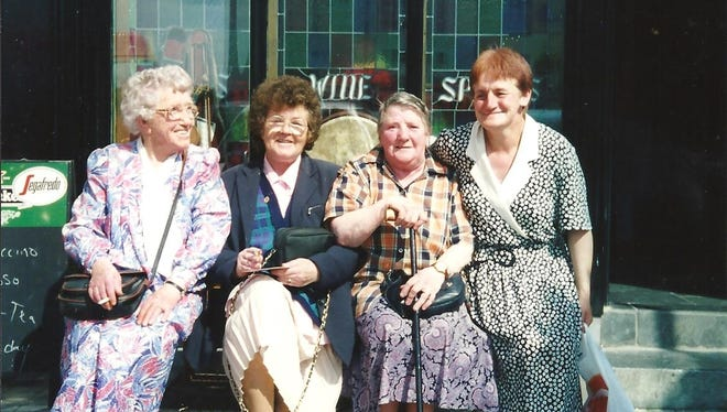 These four Irish lassies stole writer Bill Sheridan's heart outside an ice cream shop in Ireland.