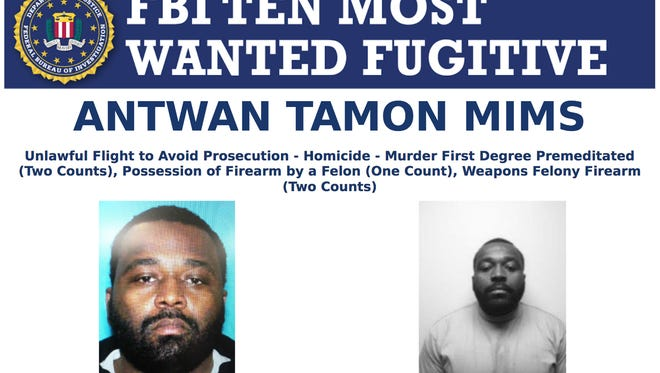 Antwan Tamon Mims was wanted in a double homicide in Benton Harbor, Michigan.