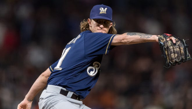 Brewers reliever Josh Hader was booed in his first road pitching appearance on Thursday at AT&T Park.