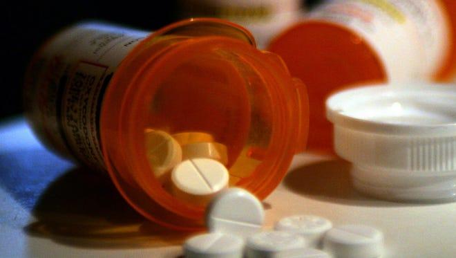Prescription bottles of oxycodone