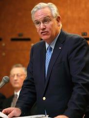 Missouri Gov. Jay Nixon speaks at the grand opening