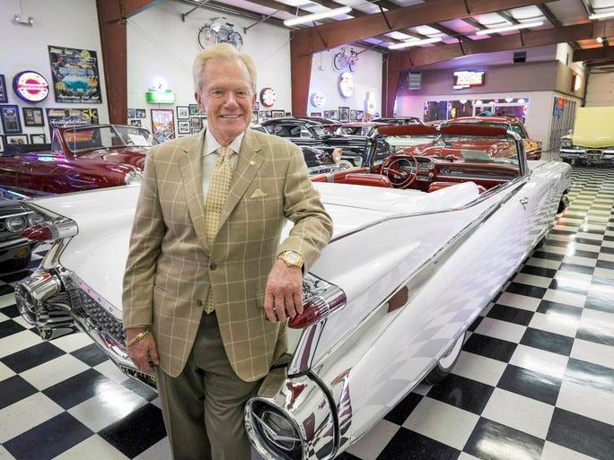 """Jim Benson at """"Memory Lane"""" his museum of antique cars, motorcycles, and memorabilia in Greer."""