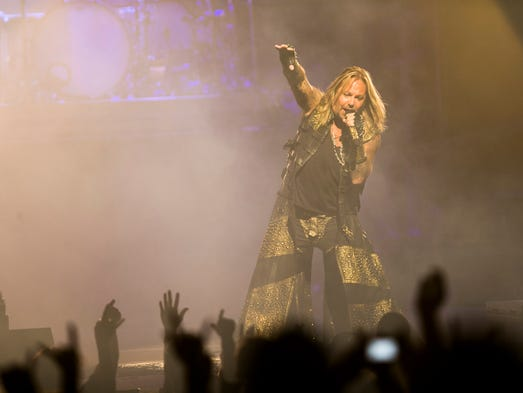 Motley Crue performs at the Ak-Chin Pavillion in Phoenix
