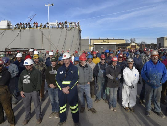 More than 300 workers of Fincantieri Bay Shipbuilding