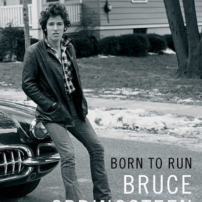 'Born To Run' cover jacket of memoir by Bruce Springsteen.