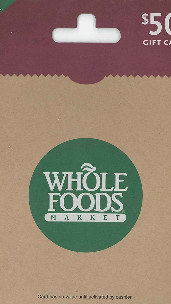 Where Can You Get Whole Foods Gift Cards