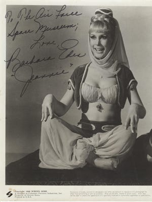 """""""I Dream of Jeannie"""" actress Barbara Eden visited the Space Coast in June 1969, specifically, the Air Force Space and Missile Museum."""