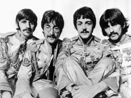 The Beatles, from left are: Ringo Starr, John Lennon,