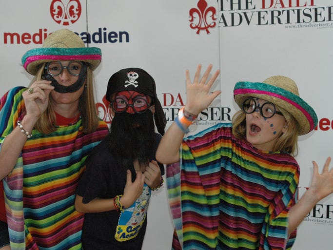 The Daily Advertiser's photo booth at the 2014 Games of Acadiana.