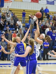 Mountain Home's Maly Tabor puts up a shot during the