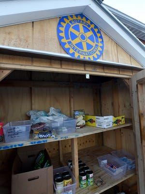 Members of the West Lafayette Rotary Club and West Lafayette Police Department have created a 24-hour food pantry filled with non-perishable items. The pantry is located on the north side of the West Lafayette Police Department.