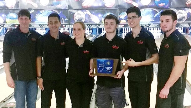 The Hasbrouck Heights bowling team won the program's first state sectional title Feb. 11 at Bowler City in Hackensack.