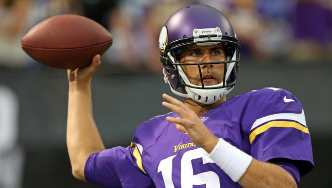 Cassel joined the Vikings after eight years between the Patriots and Chiefs.