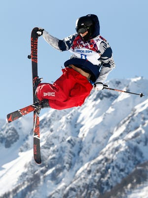 Gus Kenworthy during the Sochi 2014 Winter Olympics where he won silver in slopestyle.