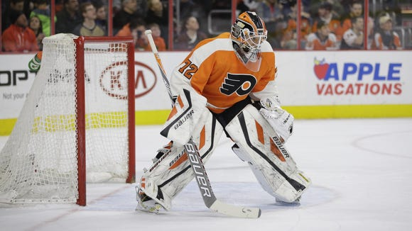 File: Philadelphia Flyers goalie Rob Zepp.