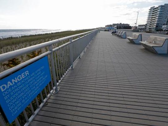 A five-and-a-half mile, rebuilt boardwalk stretches