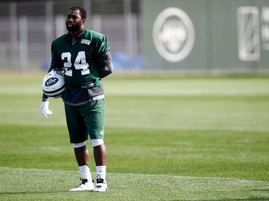 CORTLAND, NY - JULY 27: Darrelle Revis #24 of the New York Jets works out at Jets Training Camp at SUNY Cortland on July 27, 2012 in Cortland, New York. (Photo by Jeff Zelevansky/Getty Images)