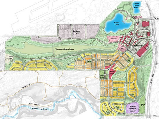 Hall Equities Group plans to develop a retail center of approximately 550,000 square feet, a 50-acre business park and up to 1,800 residential lots near Goose Lake in Shelton. Goose Lake and its surrounding area are contaminated with liquid and solid waste.