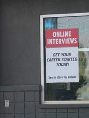 A St. George restaurant advertises for potential employees.
