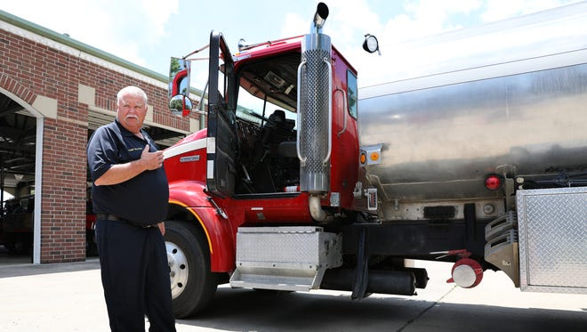 Dresden Fire Department Chief Harold Wolford talks about the department's tanker truck, which needs to be replaced.