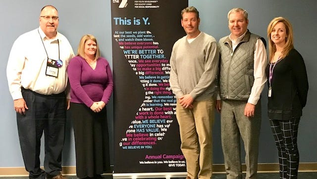 The Fond du Lac Family YMCA is launching its annual campaign. 2018 Annual Campaign leadership committee and Y staff, pictured are, from left: Greg Giles,executive director/CEO, Fond du Lac Family YMCA, Dr. Karen Meyer, Agnesian HealthCare; Dr. Billy Mauthe, Mauthe & Associates,DDS; Chair –Kevin Michels, Michels Corp; Kim Laws, director of Mission Advancement, Fond du Lac Family YMCA.