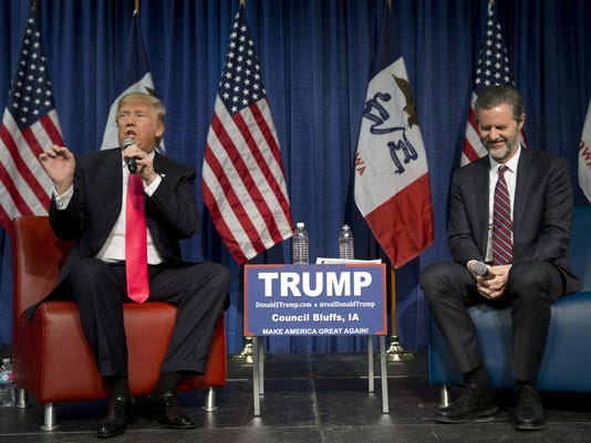 Donald Trump, Jerry Falwell Jr.