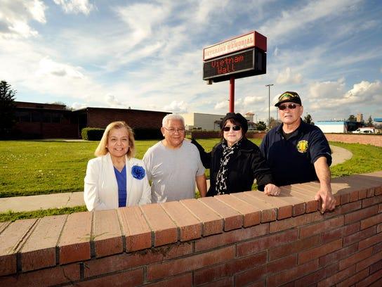 Vietnam Veterans Wall Project Committee members Romelia