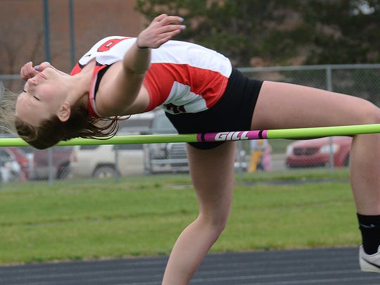 Pinckney's Nicole Burcon cleared 5 feet in the high jump last season.
