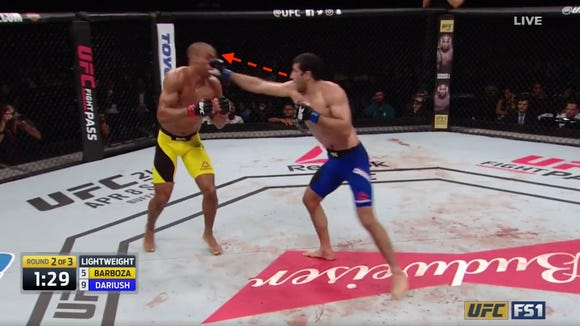 How a small mistake led to one of the most bone-crushing UFC knockouts you'll ever see