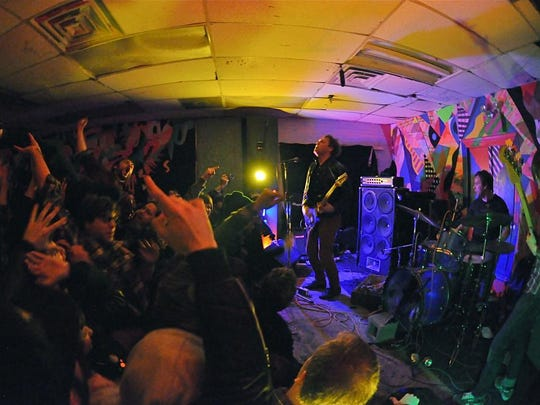 Tenement performs at Death by Audio in Brooklyn, New York.