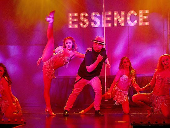 Raphael Rodriguez and the dancers during a scene from