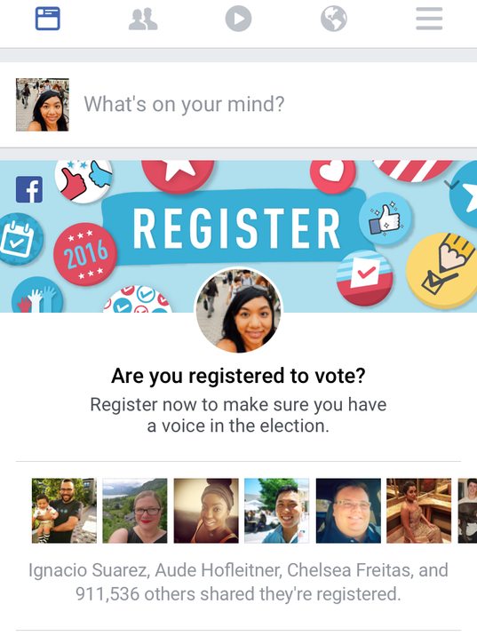Facebook launches first nationwide voter registration drive sciox Choice Image
