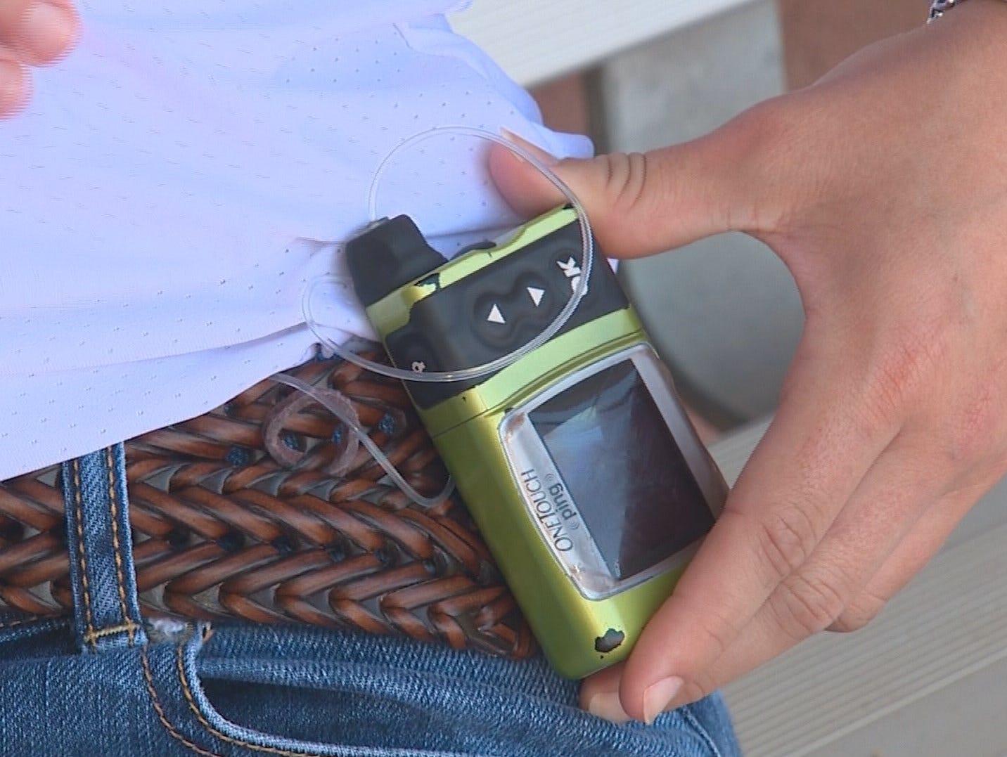 Hallie Corssnoe's insulin pump