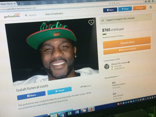 Isaiah Tucker died on July 31 after being shot by police in Oshkosh.